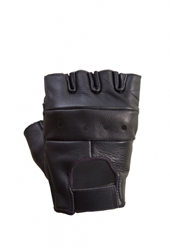 Leather Half Finger Riding Gloves